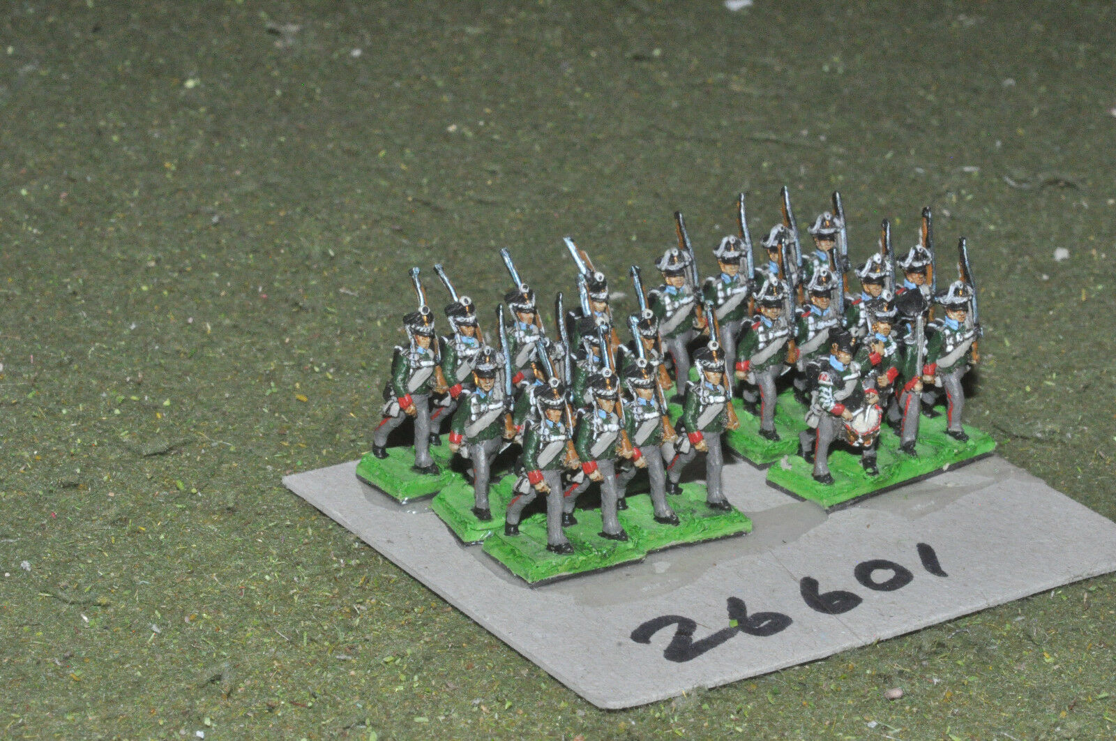 15mm napoleonic   russian - line 32 figures - inf (26601)