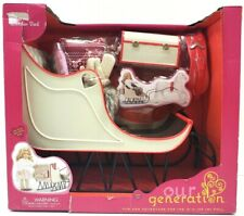 """NEW! Our Generation Holiday Sleigh and Accessories for 18/"""" Dolls by Battat"""