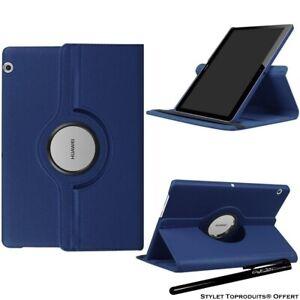 Housse Etui Bleu pour Huawei MediaPad M5 Lite 10.1 Support Rotatif 360°