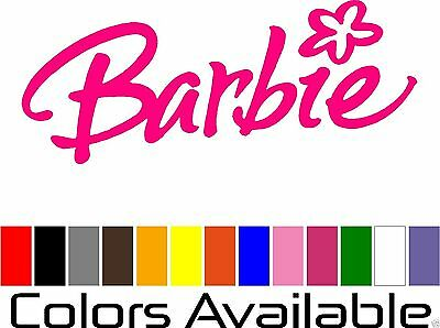 Decal I want to be like Barbie Funny Vinyl Decal Free Shipping