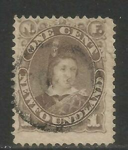 Newfoundland-1880-96-Prince-of-Wales-1c-gray-brown-Attractive-Topical-42-used