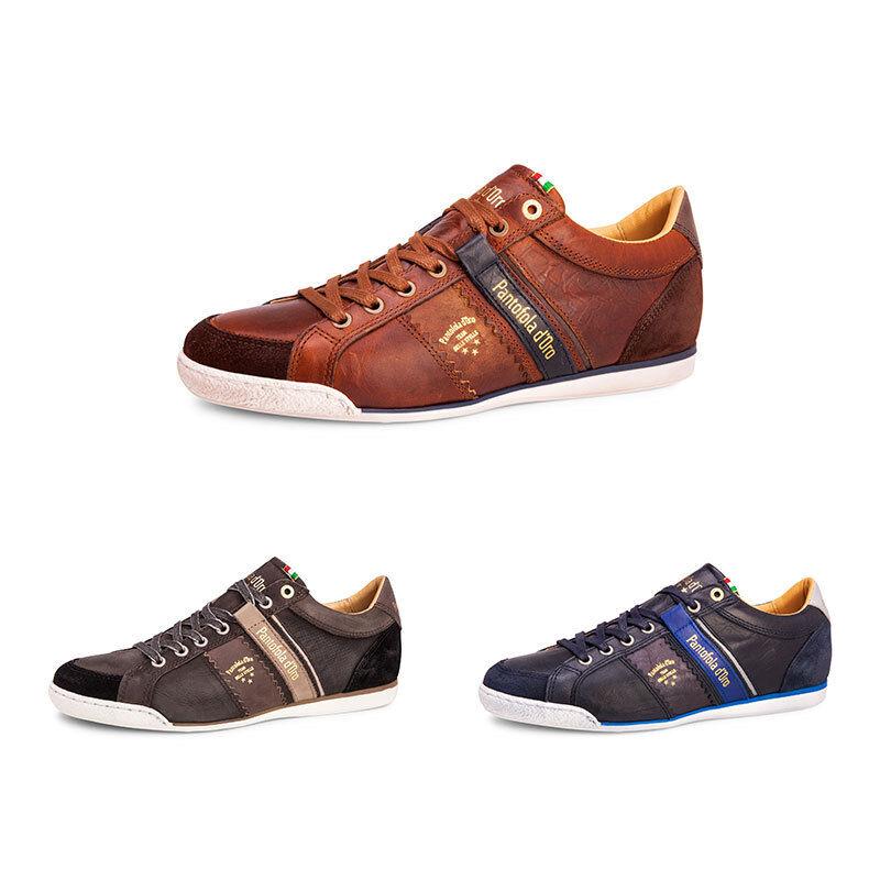 Pantofola d'Oro Savio Low Herren Leder Sneaker Freizeitschuhe Low Cut NEU