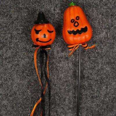 Halloween Pumpkin Head Floral Pick 12 Piece Package Assorted