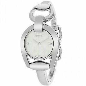 9a36cc9cc76 Gucci Women s Horesebit Watch Quartz Mineral Crystal YA139506 for ...