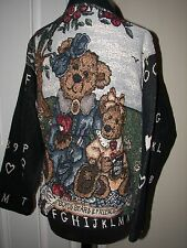 SUGAR STREET WEAVERS Boyds Bears Book Reading Picnic Teacher Tapestry Jacket OS
