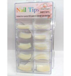 Boite-de-100-faux-ongles-nail-art-manucure-capsules-blanc-tips-capsules