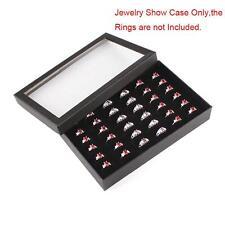 4 36 Slot Black Foam Ring Display Tray Inserts eBay