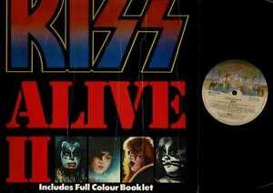 Kiss-Alive-II-No-poster-VINYL-LP-USED-Aussie-press