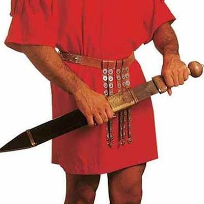 ROMAN SOLDIER Legionaire Centurion BROWN LEATHER BELT with Hanging STRIPS APRON