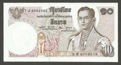 1969 THAILAND 10 BAHT P-83 BANKNOTE KING RAMA IX SERIES 11th CRISP UNC FRESH