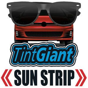 ALPINE PRECUT SUN STRIP WINDOW TINT FILM FOR GMC SIERRA 1500 DOUBLE 14-18