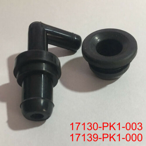 PCV Valve Grommet Fittings Kit 90° 17130-PK1-003 17139-PK1-000 For Honda Black
