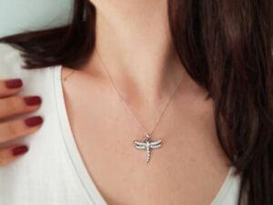 Libelle-Collier-mit-Diamanten-750er-18K-Weissgold-Halskette-mit-Zertifikat