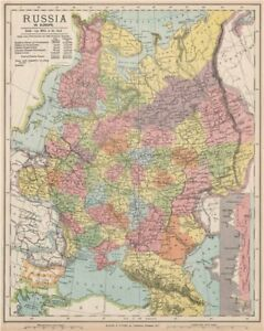 Map Of Georgia Eastern Europe.Details About Russia Eastern Europe Ukraine Belarus Baltics Finland Georgia Letts 1889 Map