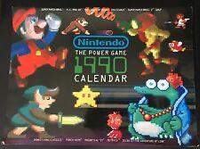 NINTENDO POWER 1990 Calendar Mario Zelda Metroid Donkey Kid Icarus RARE vintage