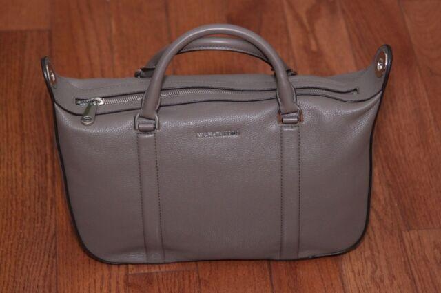 252ee0c72abd Michael Kors Raven Large Leather Satchel Shoulder Bag Cinder Grey ...