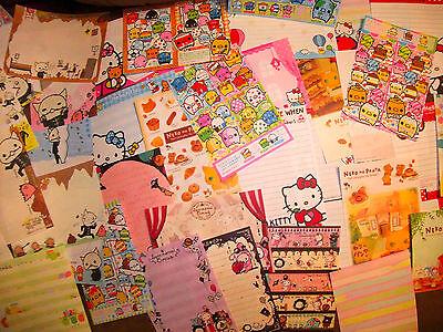 Kawaii Large Memo Sheet Lot 50!-Sanrio, San-X, Sentimental Circus, Hello Kitty