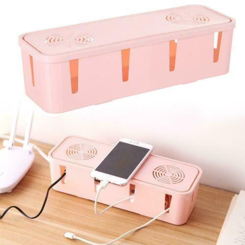 Cable Tidy Box Case Wire Cable Management Socket Safety Storage Organizer G8O7