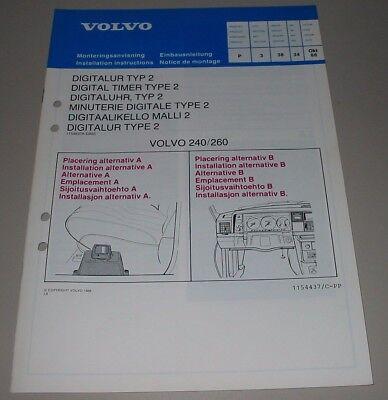 Einbauanleitung Volvo 240 / 260 Digitaluhr Typ 2 Stand Oktober 1988! Online Korting