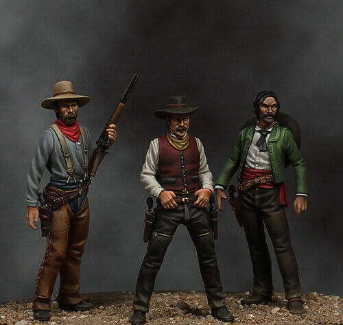 Beneito Once Upon a tid Cowboy 3 figuren Vignatte 54mm Oförtjänt metallkit