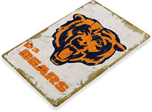 TIN-SIGN-Chicago-Bears-Rustic-Metal-Decor-Soldier-Fiel-Football-Card-Shop-A918