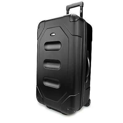 "US Traveler Long Haul 28"" Black Cargo Trunk Lightweight Rolling Luggage Suitcase"