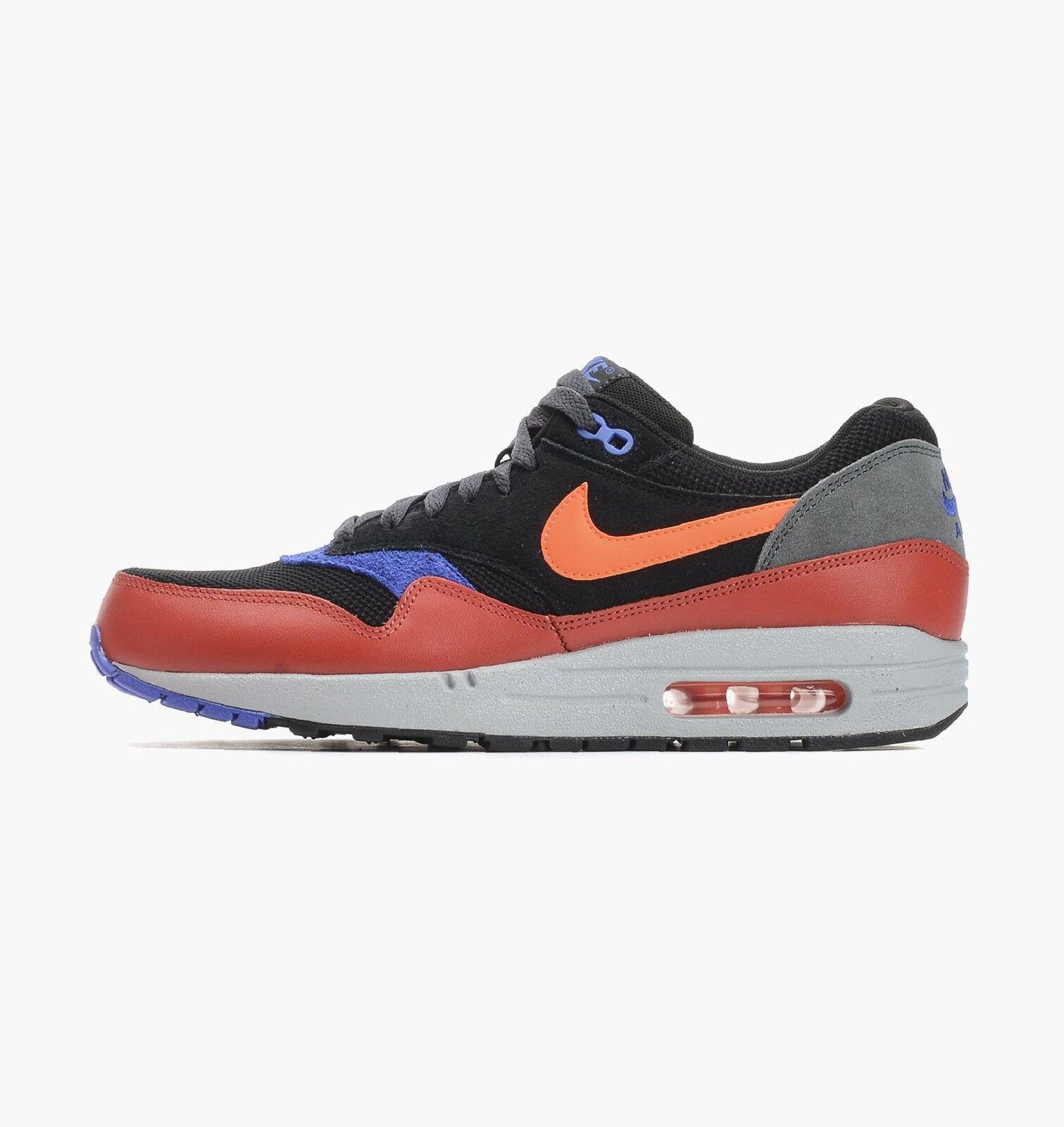Nike Air Max 1 Essential Black Hyper Crimson 537383 017