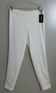 NWT-Worth-New-York-Optic-White-Chantal-Rayon-Blend-Lined-Dress-Pants-Size-8
