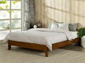 Queen Deluxe Wood Platform Bed No Boxspring Needed 12 Inch