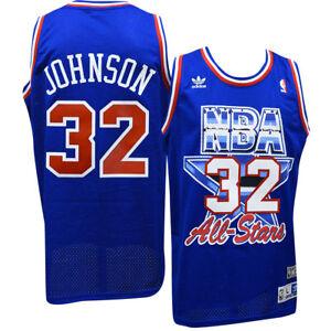 a6431e3c4 Magic Johnson Lakers Adidas NBA 1992 All-Star Game Swingman Jersey ...
