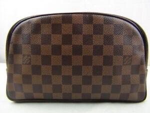Us Seller Authentic Louis Vuitton Damier Trousse Toilette Pouch Bag Good Lv Ebay