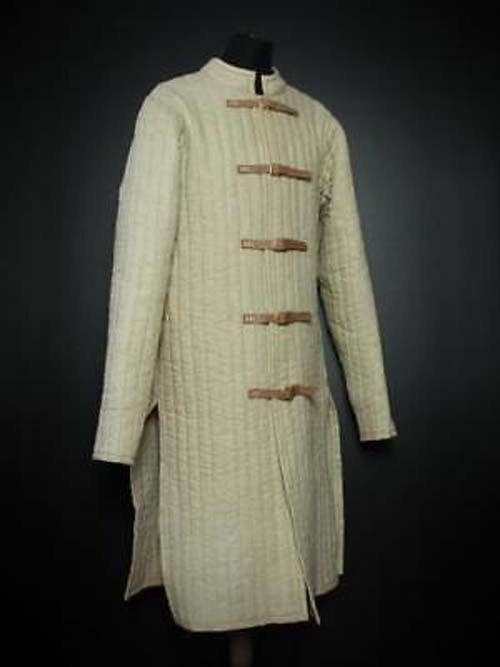 Gambeson Cream Medieval Amazing Ulfberth Witcher Cream Gambeson Farbe Jacket Full Sleeves e09f17