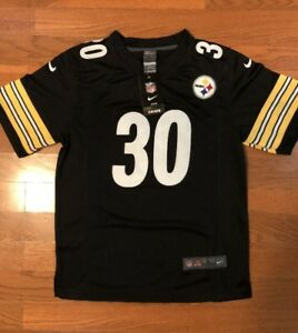 designer fashion 28e25 79f3d Details about NFL Steelers #30 James Conner Black YOUTH Jersey S,M,L,XL