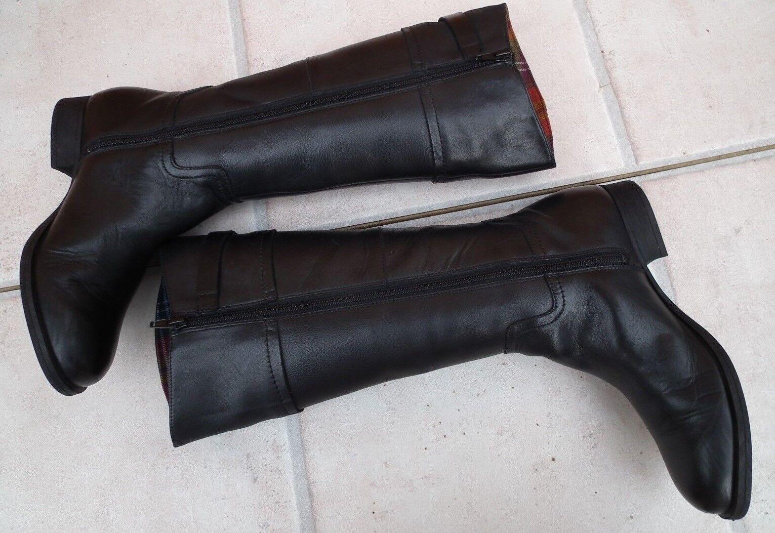 Clarks am químicos Dance  botas De Cuero Negro botas botas botas Hasta La Rodilla Talla 37.5 de la UE, Reino Unido 4.5 02552c