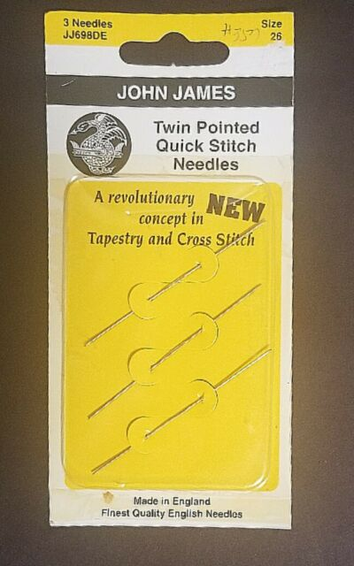 SIZE 26 FOR CROSS STITCH JOHN JAMES TAPESTRY NEEDLES FINEST QUALITY NEEDLE