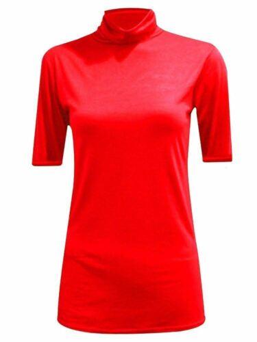 Nouveau Femmes manches mi-longues Col Roulé Top En Jersey À Col Roulé Pull Sweater