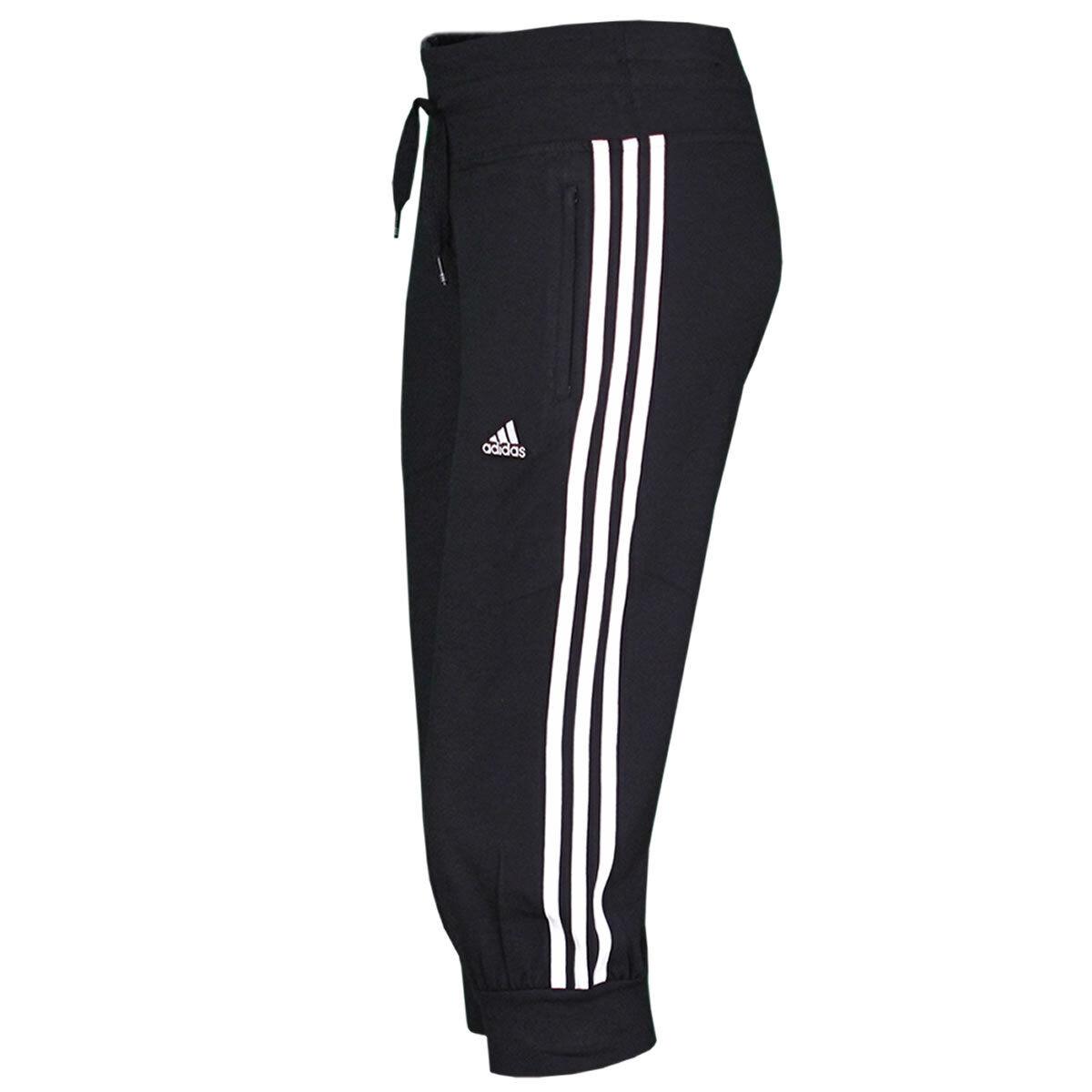 Adidas DaSie 3 4 Hose 3-Streifen Capri Pant Freizeithose schwarz-weiß NEU