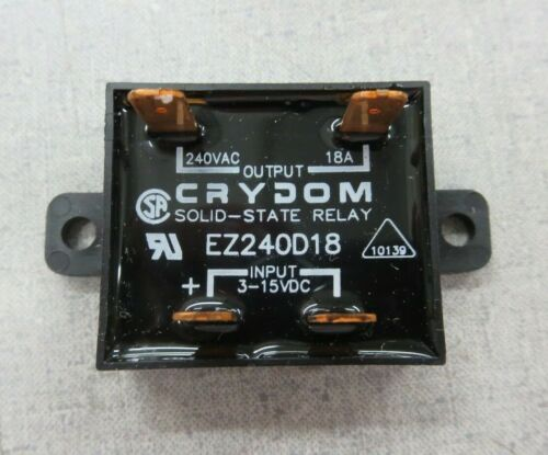 3-15VDC, 240VAC, 18A Crydom EZ240D18 Solid State Relay
