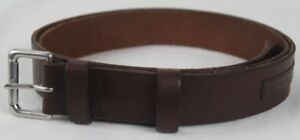 Polo Ralph Lauren Brown Leather Belt Silver Buckle NWT