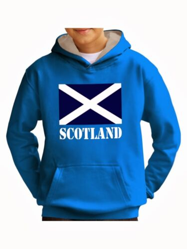 Kids Scotland Flag Hoody Sweatshirt Scotland Hoodies Rugby Football Boys Girls