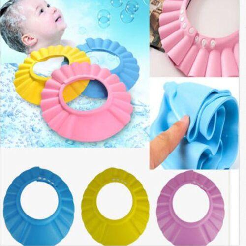 Safe Shampoo Shower Bathing Bath Protect Soft Cap Hat For Baby Wash Hair Shield