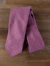 auth DRAKE'S Drakes of London wool silk linen self-tipped tie - NWOT