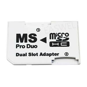 Micro-SD SDHC TF Card To Pro Duo Memory Stick MS Adapter Card Cover for Sony PSP