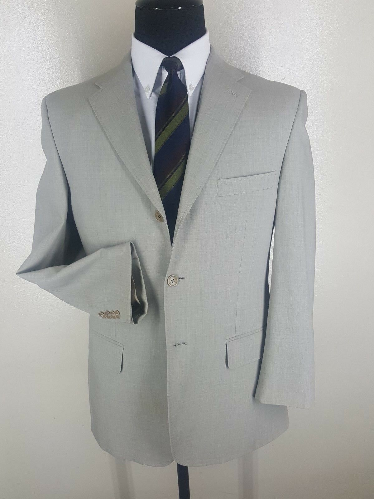 VALENTINO Made In  Sport Coat 3 Btn 2  Vents 4 Season Wool  40R-Fit 40-42 R