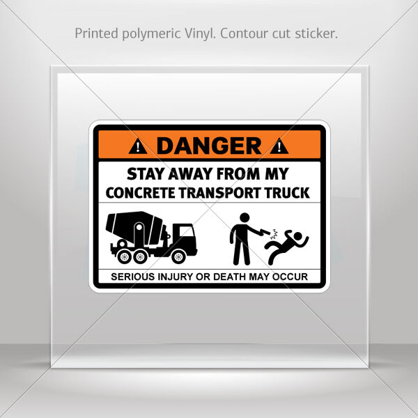 Stickers Decal Danger Funny Stay Away From My Crane Vehicle st5 X3675