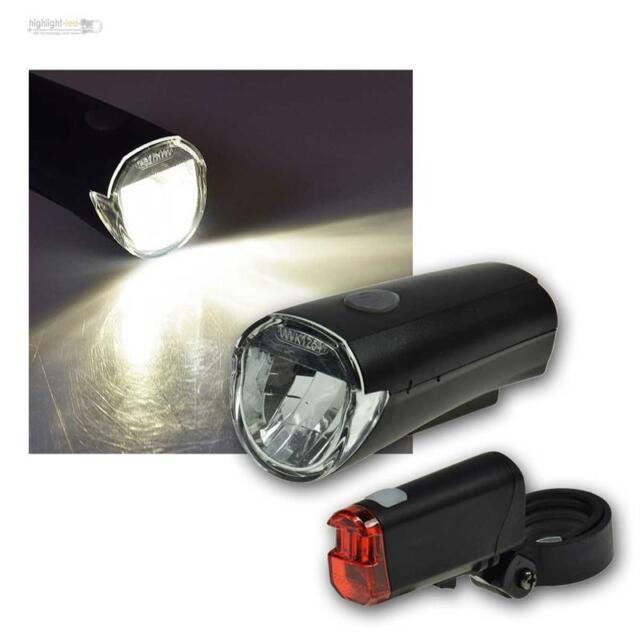 LED Luz de la Bicicleta,Iluminación Bicicleta Set,Faro Delantero Trasera Batería