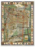 Mapa De La Ciudad De Mexico Mexico City Neighborhood Street Map Circa 1932 24x32
