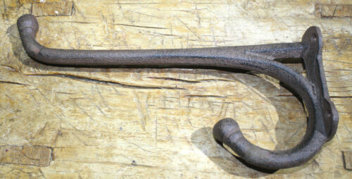 3 HUGE Cast Iron Western Cowboy Tack Saddle Style Coat Hooks Hat Hook Rack