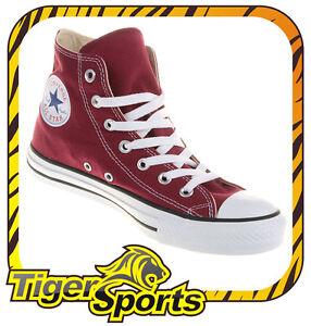 Converse-Chucks-All-Star-Hi-Maroon-Rot-M9613-Schuhe-NEU-Gr-35-48
