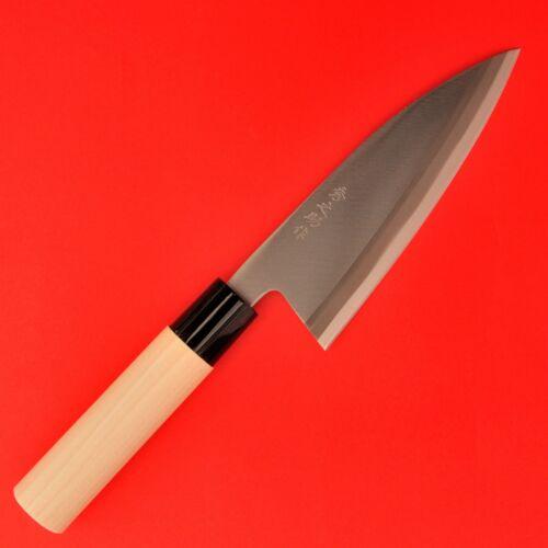 Couteaux cuisine Japonais DEBA fish poisson 155mm 150gr lame acier carbone
